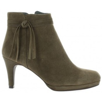 Chaussures Femme Low boots Vidi Studio Boots cuir velours Taupe
