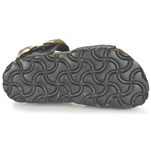 Betula Original Fussbett Jean Noir / Doré - Livraison Gratuite- Chaussures Sandale Enfant 4239