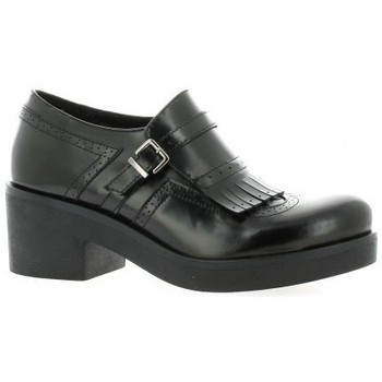 Chaussures Femme Mocassins Nuova Riviera Mocassins cuir glacé Noir
