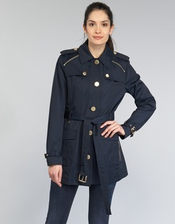 Vêtements Femme Trenchs MICHAEL Michael Kors ZIPPER YOKE TRENCH Marine