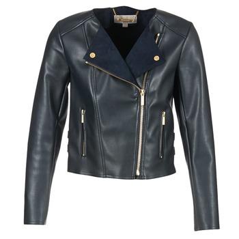 Vêtements Femme Vestes en cuir / synthétiques MICHAEL Michael Kors BONDED LTHER JKT Marine