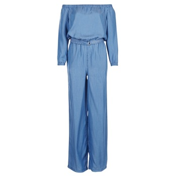 Vêtements Femme Combinaisons / Salopettes MICHAEL Michael Kors TENCEL OFF SHDR JUMPSUIT Bleu