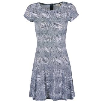 Vêtements Femme Robes courtes MICHAEL Michael Kors ZEPHYR SS FLARE DRS Bleu / Blanc