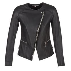 Vêtements Femme Vestes en cuir / synthétiques MICHAEL Michael Kors CHAIN FRONT BIKER Noir