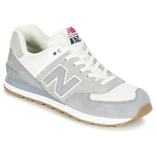 Chaussures Baskets basses New Balance ML574 Gris Blanc