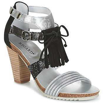 Chaussures Femme Sandales et Nu-pieds Regard RIKA Argenté / Noir