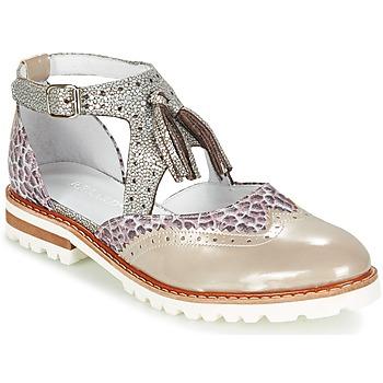 Chaussures Femme Derbies Regard ROAXO Beige / Argenté