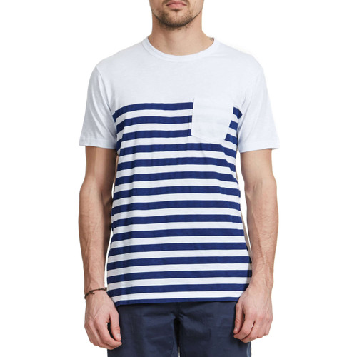 Vêtements Homme T-shirts manches courtes Franklin & Marshall Tee Shirt  Blanc Homme Blanc