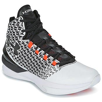 Chaussures Homme Basketball Under Armour UA ClutchFit Drive 3 Blanc / Noir / Orange