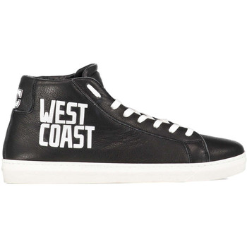 Chaussures American college sneakers west coast cuir noir