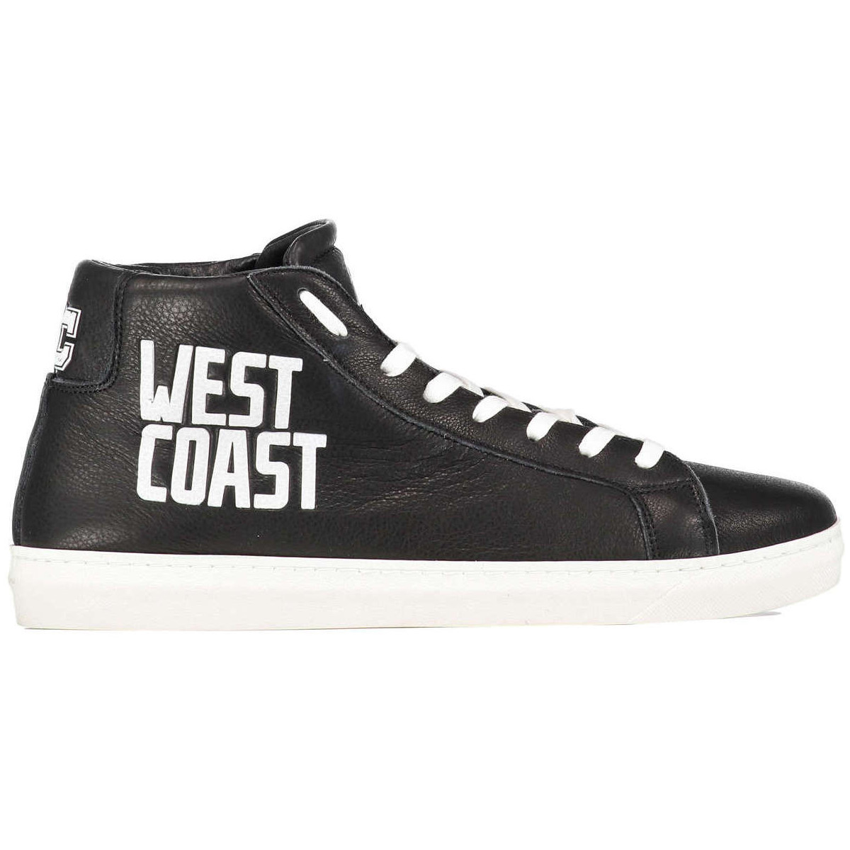 Basket montante American College Sneakers West Coast  Cuir Noir Noir