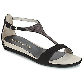 Chaussures Femme Sandales et Nu-pieds Unisa APICE Noir