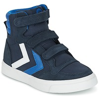 Chaussures Enfant Baskets montantes Hummel STADIL CANVAS HIGH JR Marine