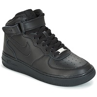 Chaussures Enfant Baskets montantes Nike AIR FORCE 1 MID 06 JUNIOR Noir