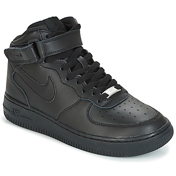 Chaussures Enfant Baskets montantes Nike AIR FORCE 1 MID 06 JUNIOR Noir 0050ebda5204