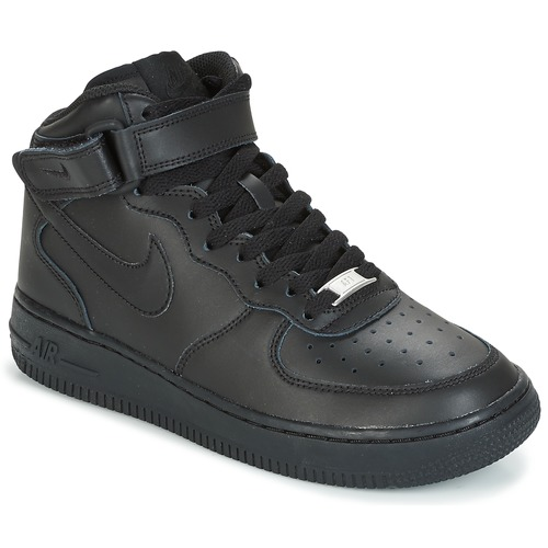 Collection Noir chaussures Nike Air Force 1 Mid GS Jeunesse