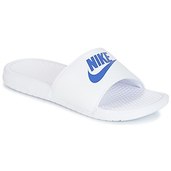 Chaussures Homme Mules Nike BENASSI JUST DO IT Blanc / Bleu