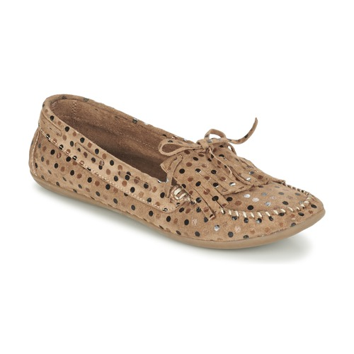 Chaussures Femme Mocassins Ippon Vintage MOC POINTS Taupe