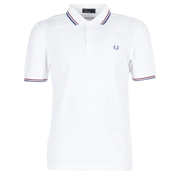 Vêtements Homme Polos manches courtes Fred Perry TWIN TIPPED FRED PERRY SHIRT Blanc
