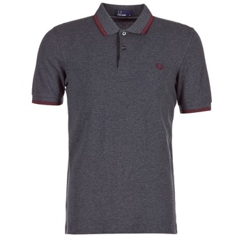 Vêtements Homme Polos manches courtes Fred Perry TWIN TIPPED FRED PERRY SHIRT Gris