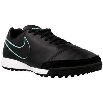 Baskets mode Nike Tiempox Genio II Leather Bleu-Noir 350x350
