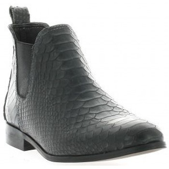 Bottines / Boots Ambiance Boots cuir python Noir 350x350