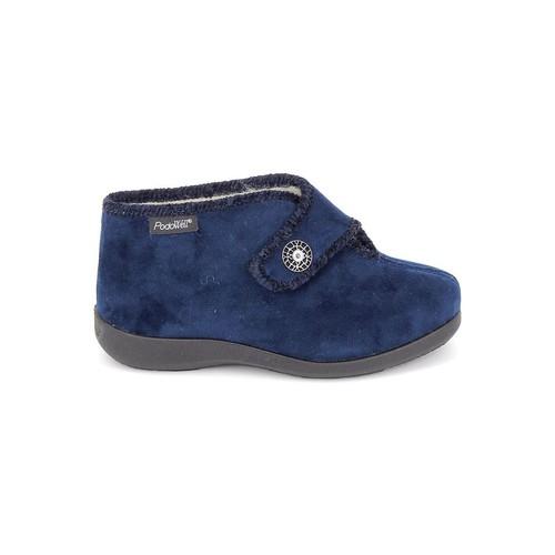 Fargeot Caliope marine Bleu Foncé - Chaussures Chaussons Femme