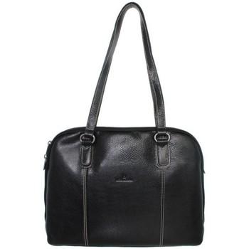 Sacs Femme Sacs porté épaule Hexagona Sac  en cuir porté épaule ref_xga37599-noir Noir