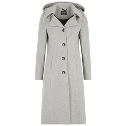 Vêtements Femme Doudounes De La Creme Manteau d'hiver en cachemire Grey