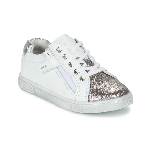 Chaussures Garçon Baskets basses Babybotte KRAZY Blanc / Argenté