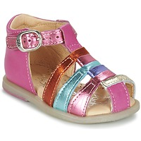 Chaussures Fille Ballerines / babies Babybotte TIKALOU Rose / Multicolore