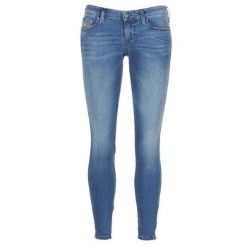 Vêtements Femme Jeans skinny Diesel SKINZEE LOW ZIP Bleu 0681P