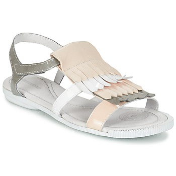 Chaussures Femme Sandales et Nu-pieds Pataugas CANDY/V F2C Blanc / Gris / Rose