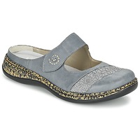 Chaussures Femme Mules Rieker GRILOPI Bleu / Gris