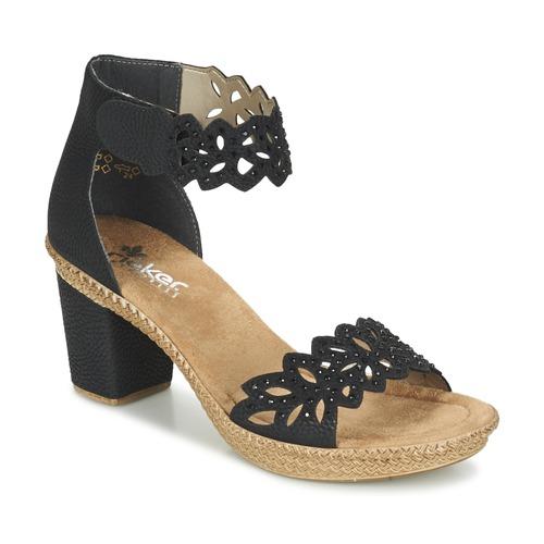eba27f39f1bf97 Rieker POTIRASSE Noir - Livraison Gratuite   Spartoo ! - Chaussures ...