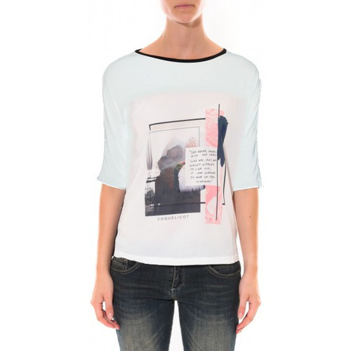 T-shirts & Polos Coquelicot Tee shirt   Blanc 16409 Blanc 350x350