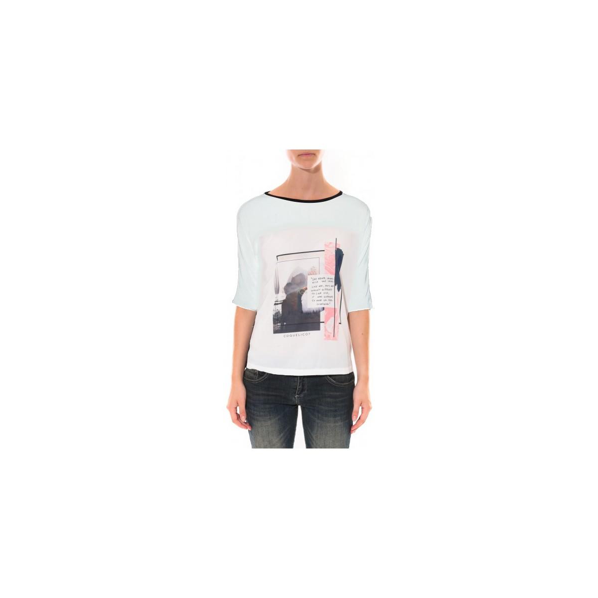 Coquelicot Tee shirt   Blanc 16409 Blanc
