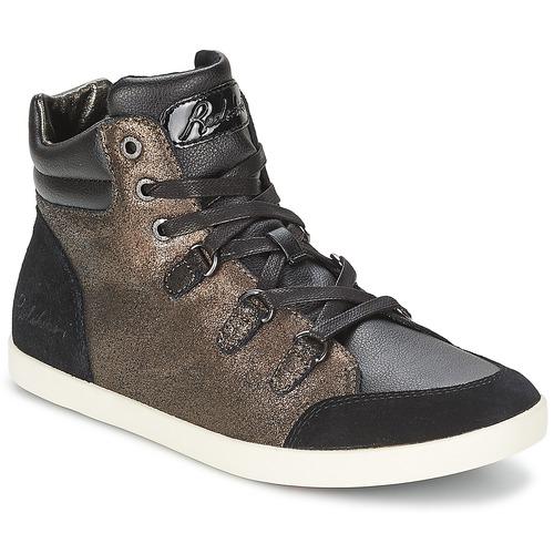 Chaussures Femme Baskets montantes Redskins CADIX Noir / Bronze