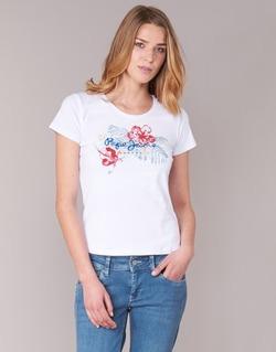Vêtements Femme T-shirts manches courtes Pepe jeans AMBER Blanc