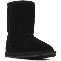 Chaussures Fille Boots EMU Wallaby Lo noir