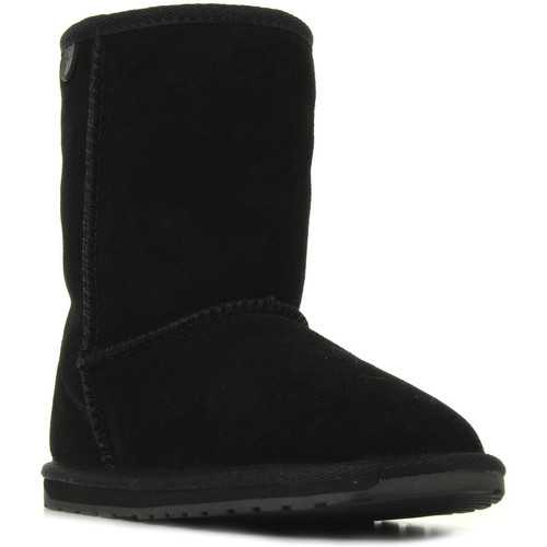 Chaussures Fille Boots EMU Wallaby Lo Noir noir