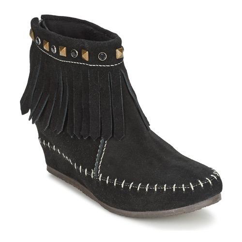 Bottines / Boots Les Tropéziennes par M Belarbi BOLIVIE Noir 350x350