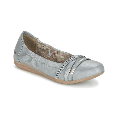 Chaussures Femme Ballerines / babies Mustang CRICA Gris