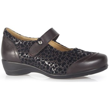 Chaussures Femme Ville basse Calzamedi CASUAL VELCRO BRUN