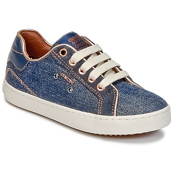 Chaussures Fille Baskets montantes Geox J KIWI G. B Denim