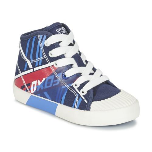 Chaussures Garçon Baskets montantes Geox J KIWI B. E Marine