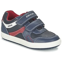 Chaussures Garçon Baskets basses Geox J VITA A Marine / Rouge