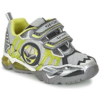Chaussures Garçon Baskets basses Geox J SHUTTLE B. B Gris / Citron
