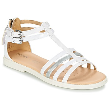 Chaussures Fille Sandales et Nu-pieds Geox J S.KARLY G. D Blanc