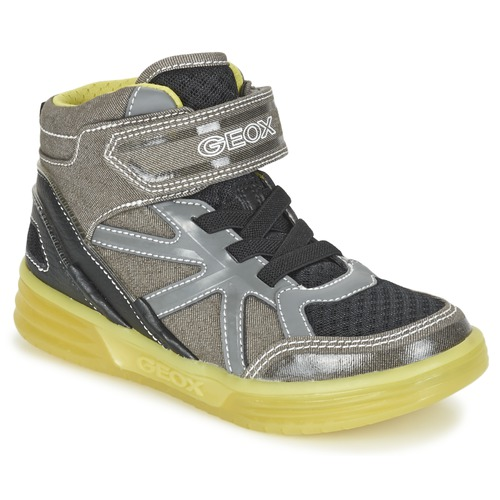 Chaussures Garçon Baskets montantes Geox J ARGONAT B. B Gris / Citron